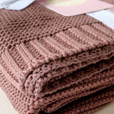 DUSTY PLUM SOFT KNIT BLANKET