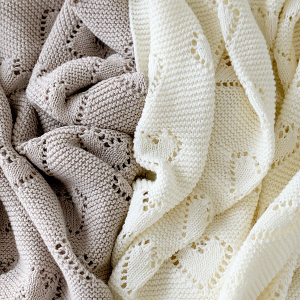 heirloom baby blanket 'sapling' | fawn