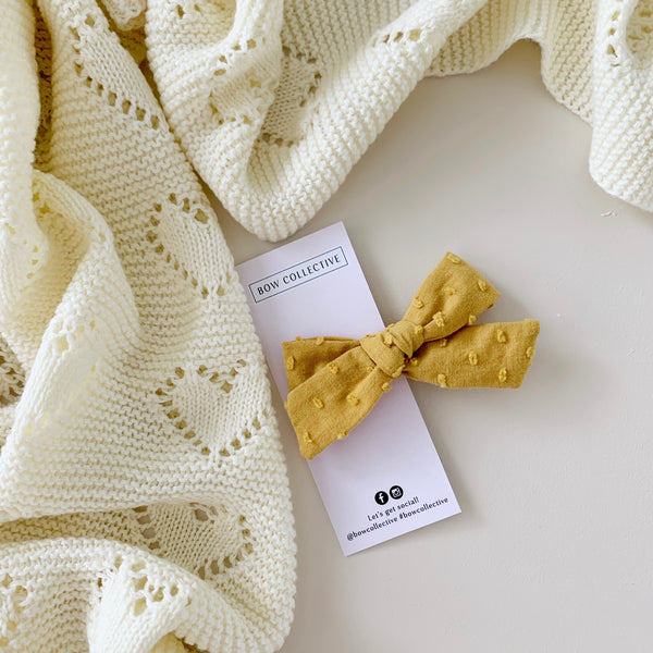 Mustard | Bubble Cotton Clip