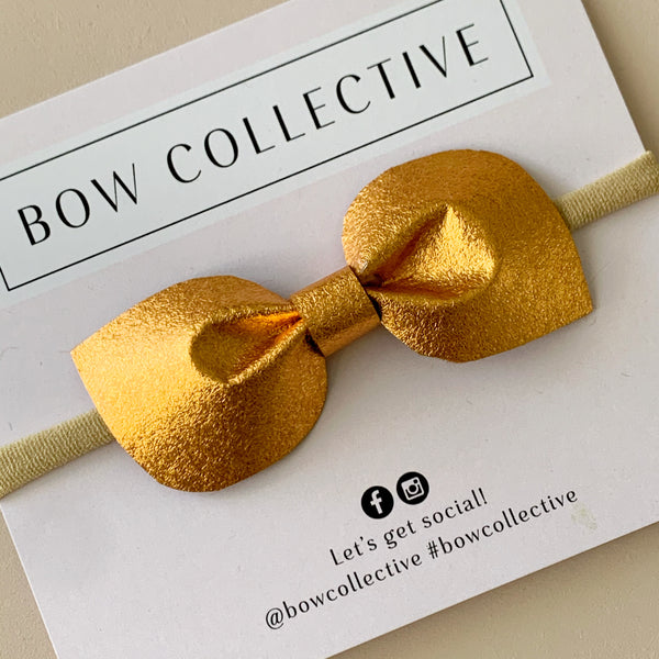 Metallic Copper | Fabric Mabel Bow