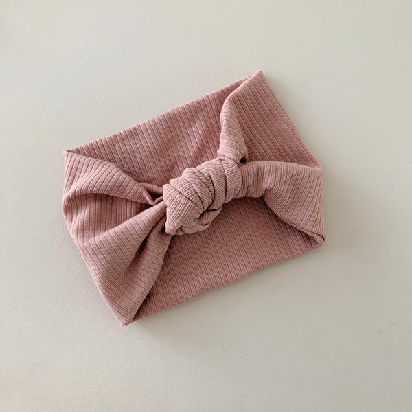aw20 'Topknot' headwrap - dusty rose