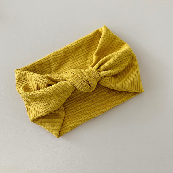 aw20 'Topknot' headwrap - mustard