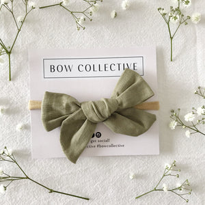 Khaki | Pinwheel Hair Bow