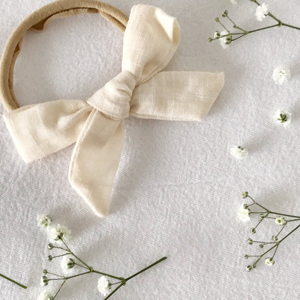 Cream | Schoolgirl Hair Bow