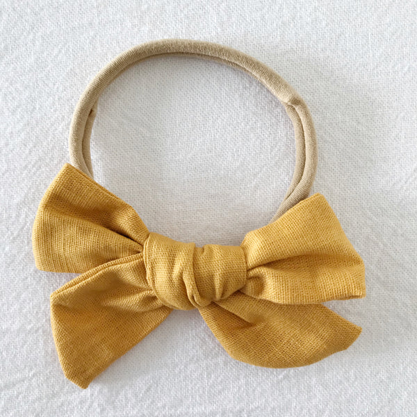 Mustard | Pinwheel Hair Bow