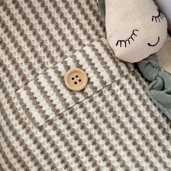 Mustard | Knitted Baby Blanket