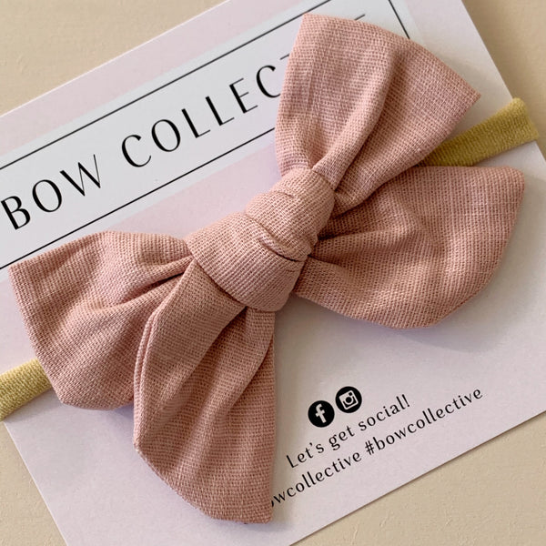 Dusty Pink | Pinwheel Hair Bow
