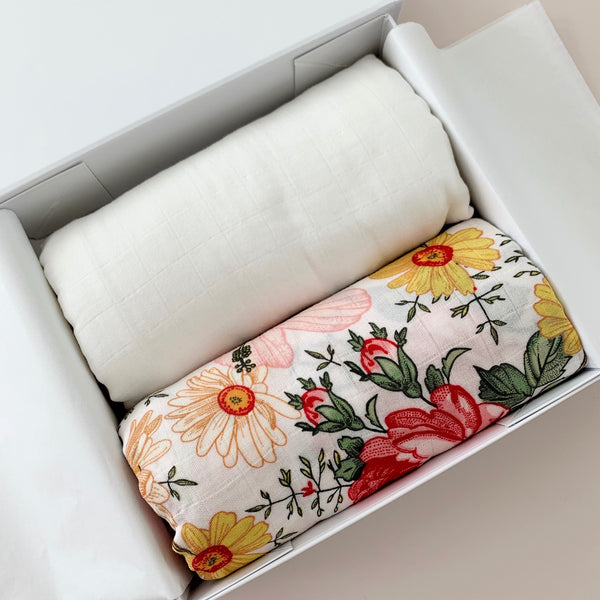 Garden Posy | Baby Swaddle Bundle