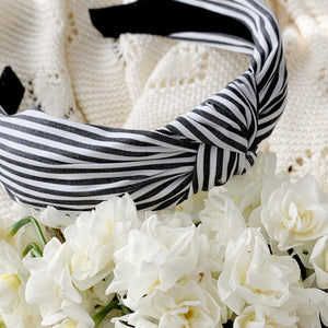 Charcoal Stripe | Topknot Headband