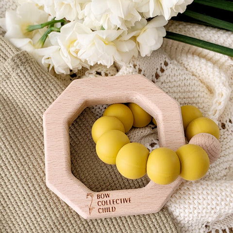 Mustard | Teething Toy Roller Bundle