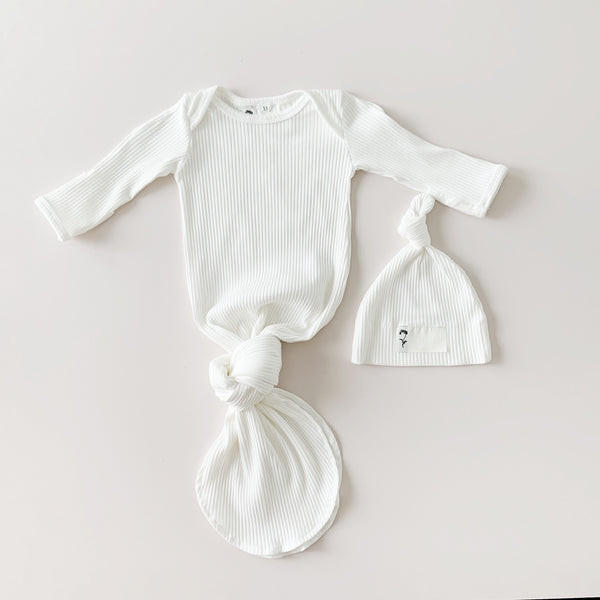 Milk | Newborn Sleep Gown + Beanie