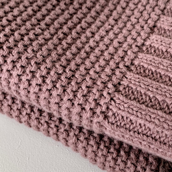 Dusty Plum | 100% Cotton Soft Knit Baby Blanket