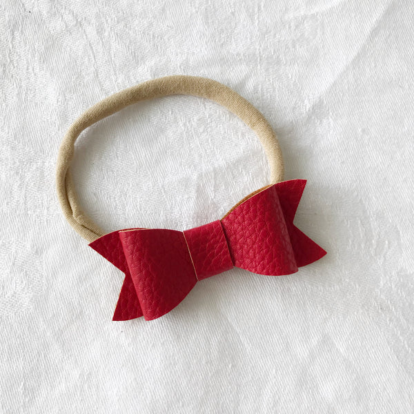 Nordic Red | Audrey Hair Bow