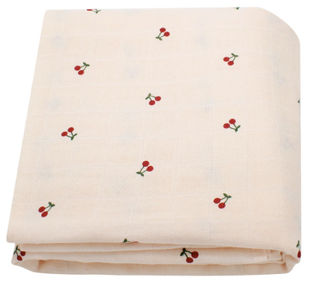 Cherries | Organic Bamboo Wrap