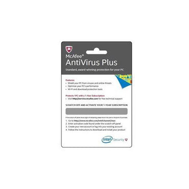 McAfee Antivirus Plus Card