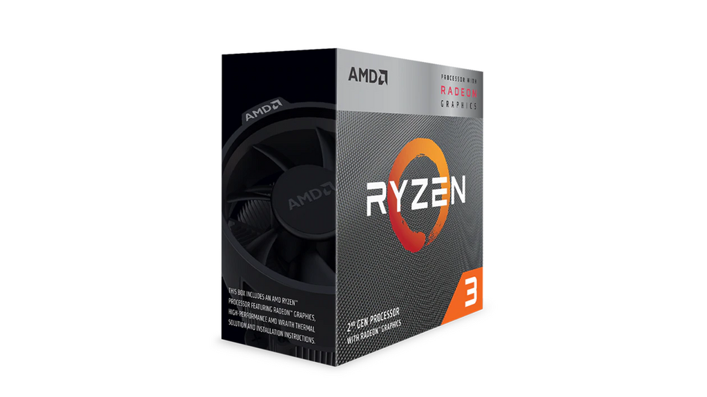 AMD Ryzen 3 3200G 4-Core 4-Thread 3.60-4.0GHz 4mb 65W > (Must be purchased with a compatible motherboard)