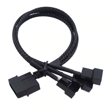 Molex To 3 Way 3Pin/4Pin Power Fan Splitter Cable