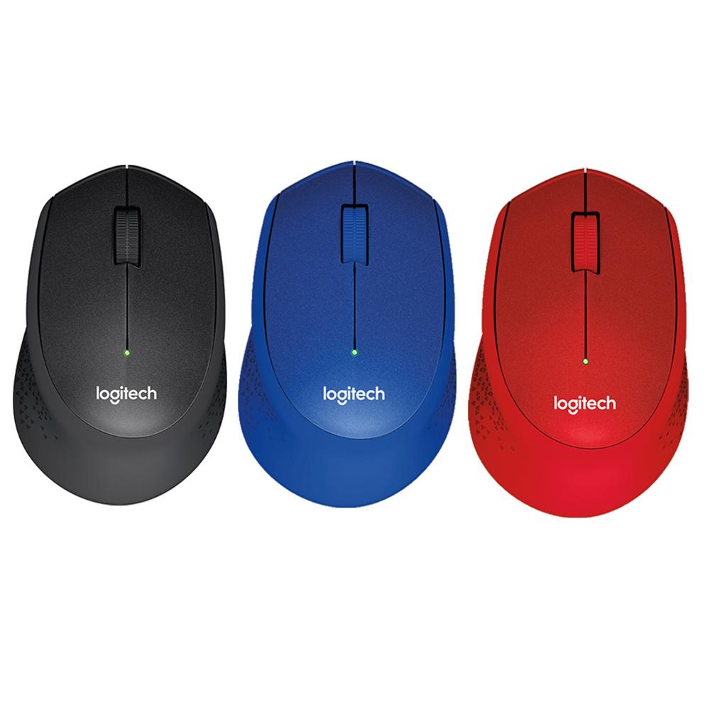 Logitech M331 Silent Plus (black, blue, red)