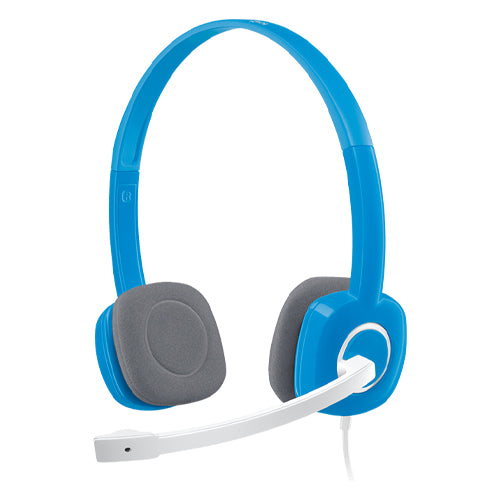 Logitech H150 Stereo Headset with Noise-Cancelling Mic - Blue 981-000368