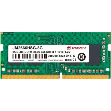 Transcend 8GB single DDR4 2666MHz SoDimm JM2666HSG-8G