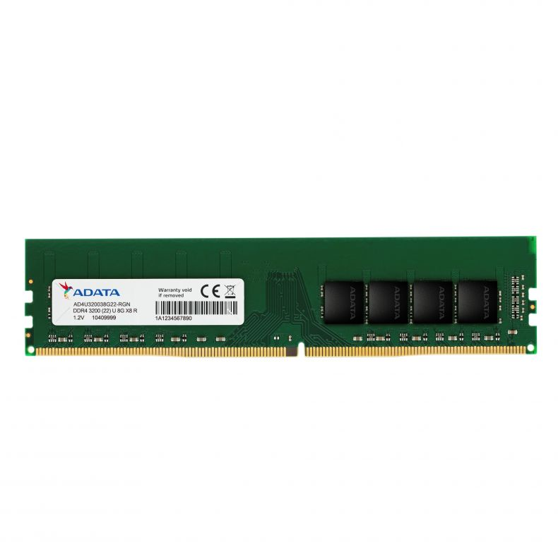 Adata 8GB Single DDR4 3200 DIMM AD4U320038G22