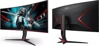 "AOC CU34G2X 34"" Curved 144Hz UltraWide QHD 3440x1440 1ms Freesync Frameless Immersive Gaming Monitor Height Adjustable (Free AOC RGB Mousepad)"