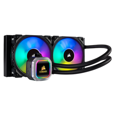 Corsair H100i RGB PLATINUM 240mm Liquid CPU Cooler CW-9060039-WW