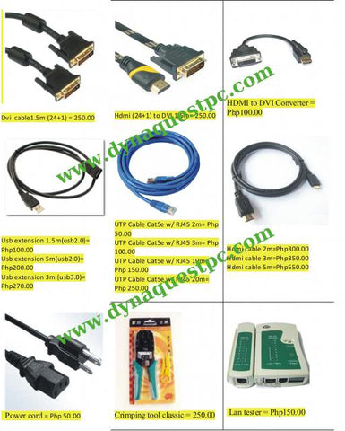 Cable l Extension l Switch l Cord l Converter l Cabling Solution