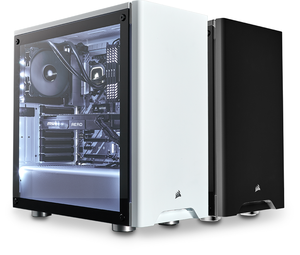 Corsair Carbide 275R Tempered Glass (White / Black)