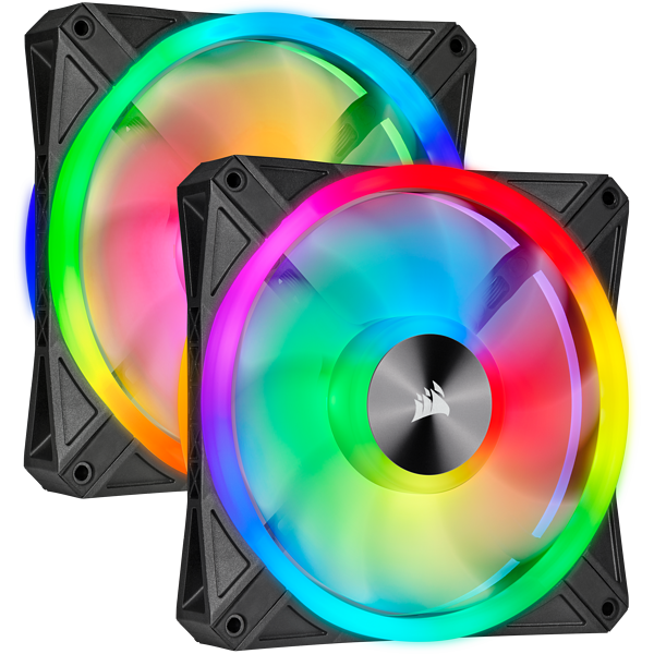 Corsair iCUE QL140 RGB 140mm PWM Dual Fan Kit with Lighting Node CORE CO-9050100-WW