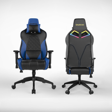 Gamdias Achilles E1 L Black / Blue / Red / BlackWhite (RGB Illuminated Gaming Chair)