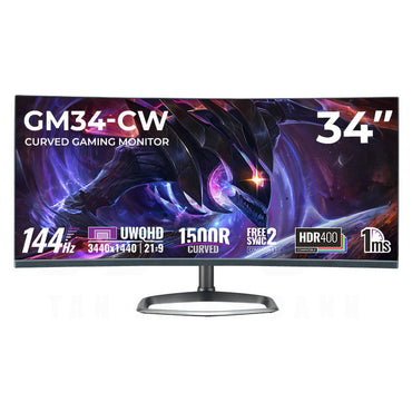 "Cooler Master GM34-CW 34"" Curved UWQHD 144Hz 1ms Freesync Gaming Monitor CMI-GM34-CW-US"