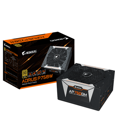 Gigabyte Aorus P750 GOLD 750W 80+ Modular Power Supply GP-AP750GM