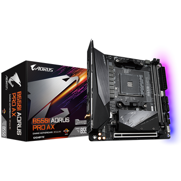 Gigabyte B550I AORUS PRO AX (AM4) Mini-ITX Motherboard > ( must be purchased with a compatible processor )