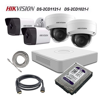 HikVision (package) 4CH POE NVR (DS-7104NI-E1) 4 Bullet Cameras