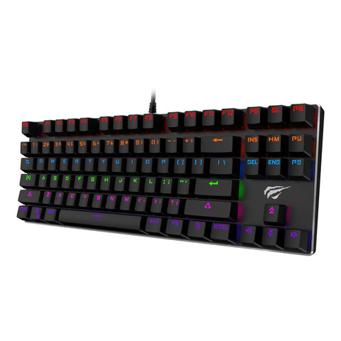 Havit HV-KB435L TKL RGB Backlit Mechanical Gaming Keyboard