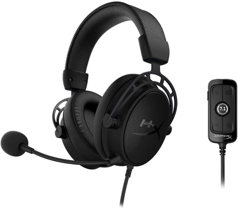 Kingston HyperX Cloud Alpha S Gaming Headset Blue KHX-HSCAS-BL/WW | Black KHX-HSCAS-BK/WW