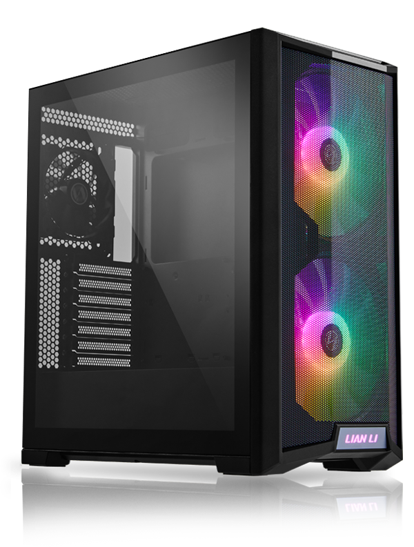 Lian Li 215X aRGB Black ATX TG Mid Tower Case 2x200mm 1x120mm