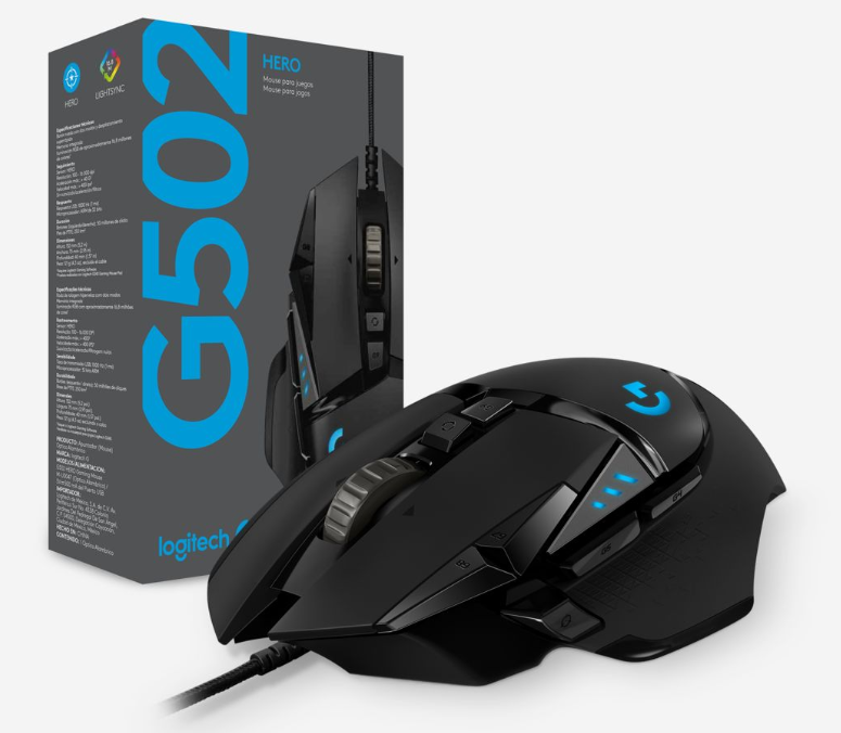 Logitech G502 Hero High Performance Gaming Mouse 910-005472