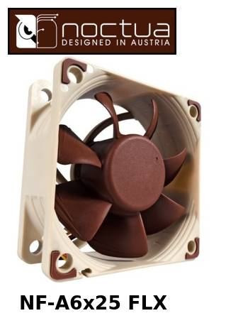Noctua NF-A6x25 FLX Case Fan 60x60x25mm