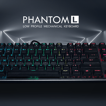 Tecware Phantom L TKL Low Profile RGB Mechanical Keyboard