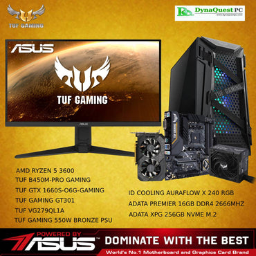 "ASUS TUF Gaming Desktop R5 3600 | 27"" IPS 165HZ 