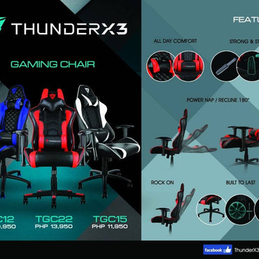 ThunderX3 TGC12 Black-Blue Gaming Chair