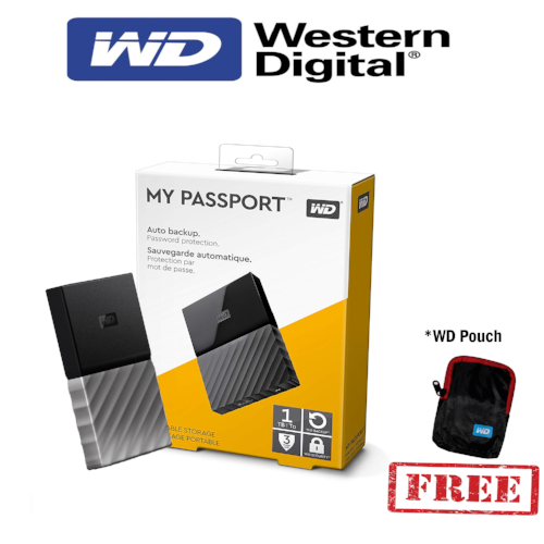 WD My Passport 1TB Portable Black WDBYNN0010BBK
