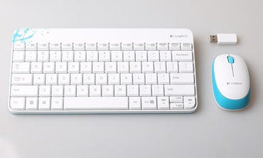 Logitech MK240 Wireless Desktop Keyboard + Mouse white