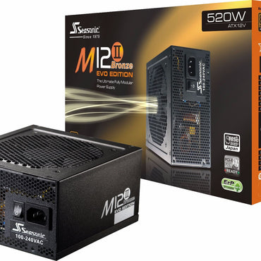 Seasonic M12II-520 EVO 520Watts 80Plus Bronze Full Modular