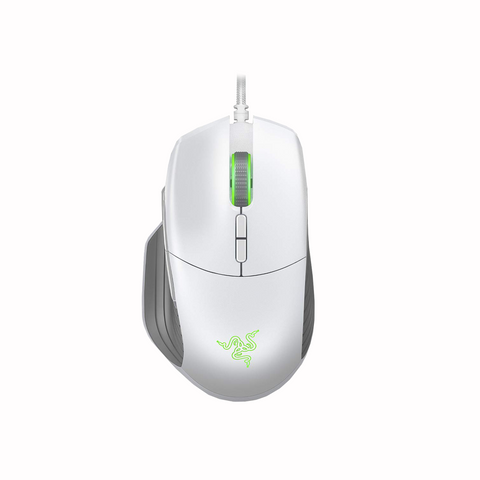 RaZER Basilisk Mercury White Gaming Mouse RZ01-02330300-R3M1