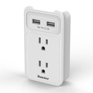 Huntkey SMD407 Wall Power Mount 2 usb, 2 outlet