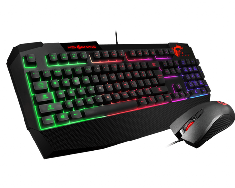 MSI Vigor GK40 RGB Backlit Membrane + Clutch GM10 Gaming Mouse