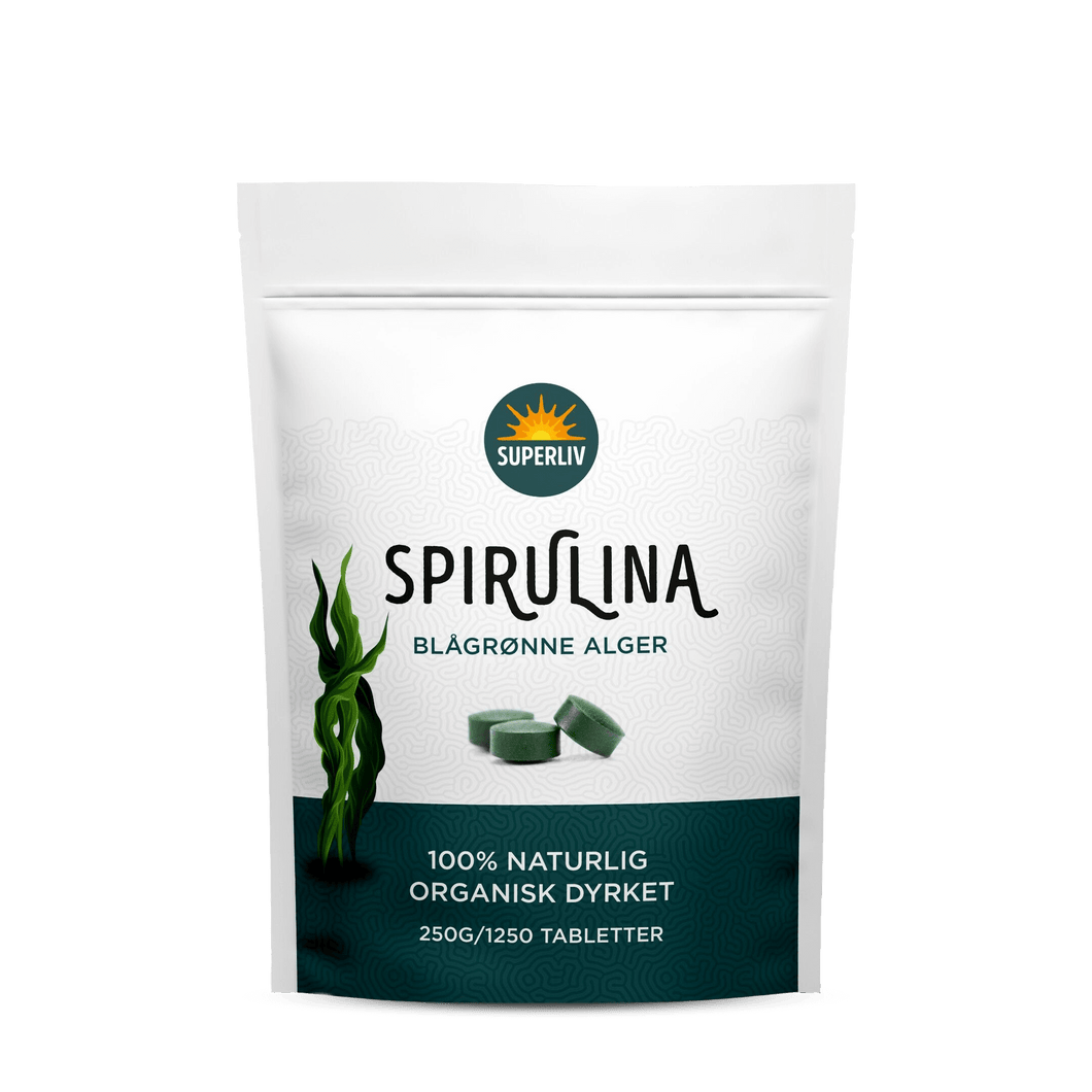 Spirulina, 1250 tabletter, Superliv